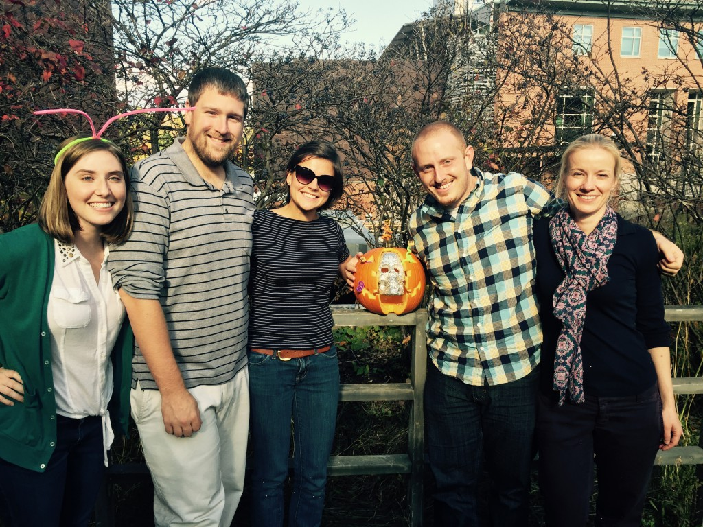 Us and our pumpkin!